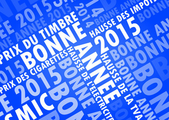 Bonne Année 2015 Fond Bleu