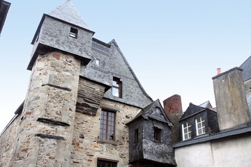 Medieval building in Vitre, Brittany, France
