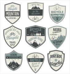 Bicycle retro vintage badge collection