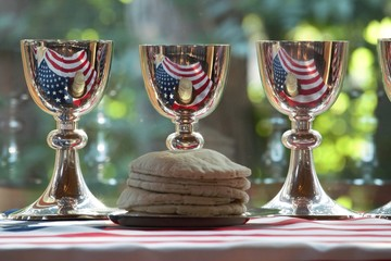 Chalices with the American flag