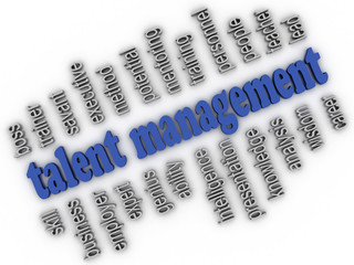 3d imagen Talent Management  concept word cloud background