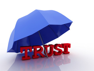 3d imagen Trust concept, isolated on white background.