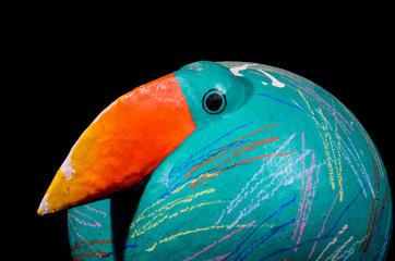 Green Handmade Bird Statue