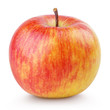 Red yellow apple isolated on white with clipping path
