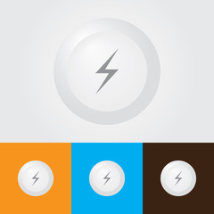 Lightning bolt Icon , Power Symbol