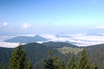 Amazing morning on summer mountain ridge - Slovakia