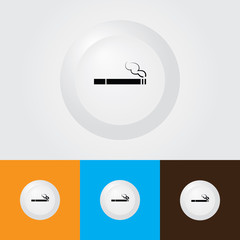 Cigarette Icon , Smoking area Symbol