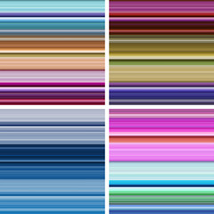 Set of abstract striped background