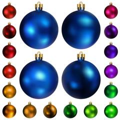 Set of colored Christmas balls