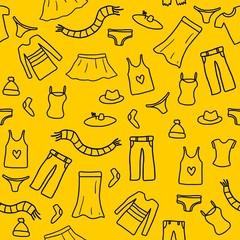 Clothes background - doodle art