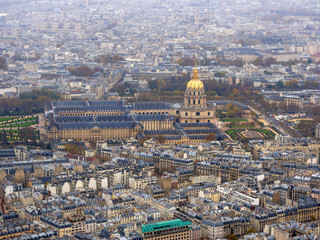 view on Paris from the Eiffel tower