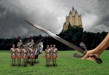 prepared for medieval battle