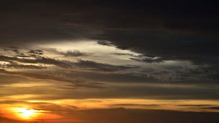 Sunset sky with cloudy sky