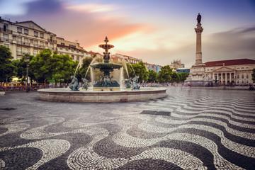 Rossio Square in Lisbon, Portugal