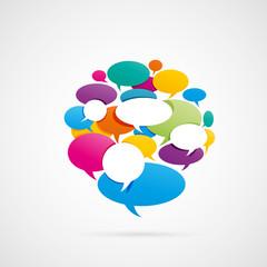 bulles dialogue-réseau social
