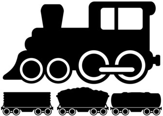 isolated locomotive train and car