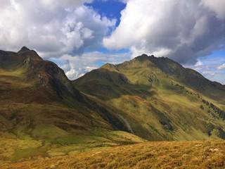 Dramatic landscape in Tirolean Alps in Austria