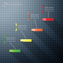 Business of concept staircase Success Infographics . Vector illu
