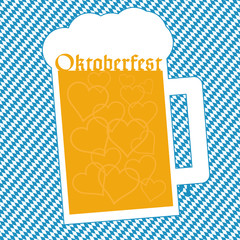 Oktoberfest bavarian blue background