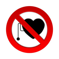 Prohibited from working people with pacemakers