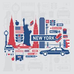 Vector set of NewYork city