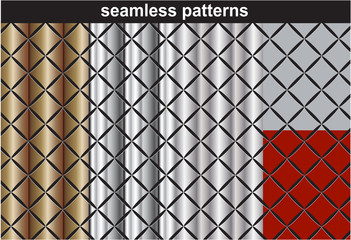 Patterns collection seamless wallpapers