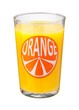 Orange Juice Glass isolated
