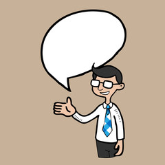 Businessman speech balloon
