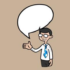 Businessman speech balloon