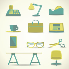 Office Object Icon Vector Illustration