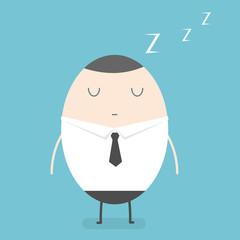 Businessman sleep