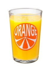 Orange Juice Glass isolated