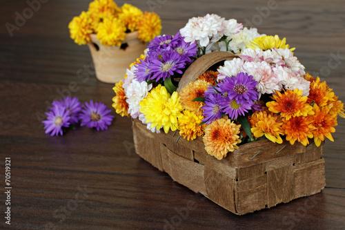 canvas print picture Herbstlicher Blumenstrauß