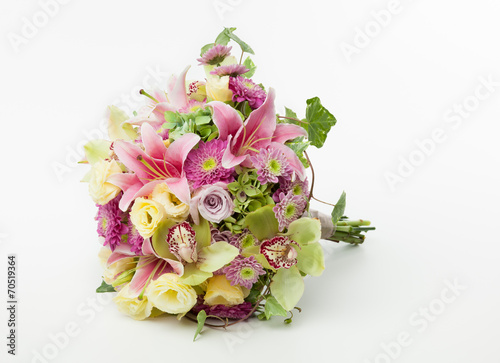 Foto op Canvas Hydrangea wedding bouquet