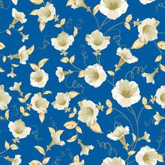 Bindweed samless pattern.
