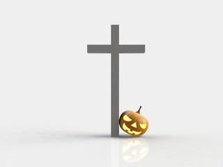 Halloween pumpkin 3D render