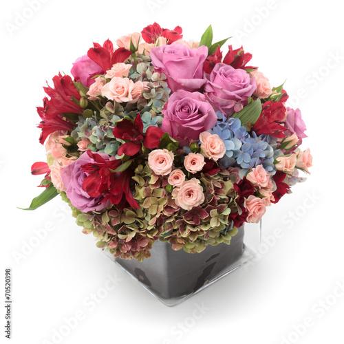 Foto op Canvas Hydrangea Floral arrangement
