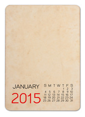 Calendar 2015 on the Empty old photo