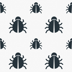 Bug sign icon. Virus symbol. Software bug error