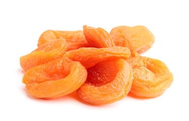 The dried apricots isolated.