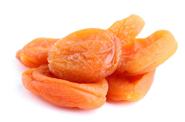 The dried apricots close-up.