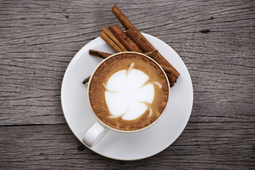 Hot Latte art coffee