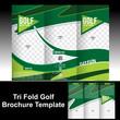 Tri Fold Golf Brochure Template