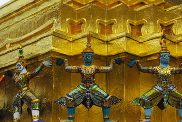 Giant at the Emerald Buddha Temple, Bangkok, Thailand