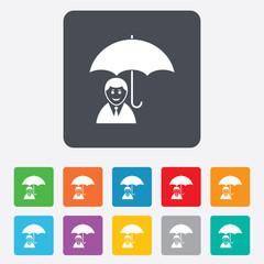 Human insurance sign icon. Person symbol.