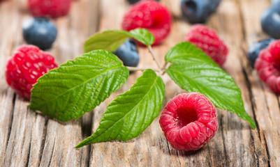 Ripe sweet different berries