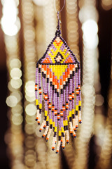 Beads, beadworks on a colored,   accessories