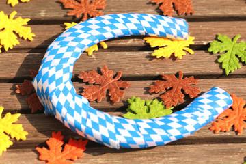 Hufeisen mit bayerischen Farben