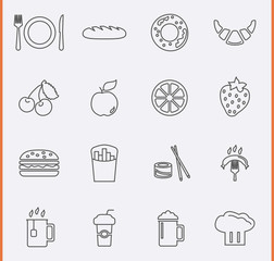 Food and Drink Icons. Vector