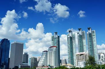 Commercial Building at Asoke. Civilization centered in Bangkok